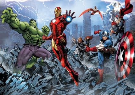 Marvel - Avengers giant boy's room wall murals